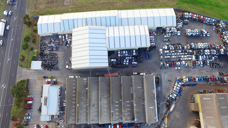 Birds eye view Aus Auto Parts Melbourne