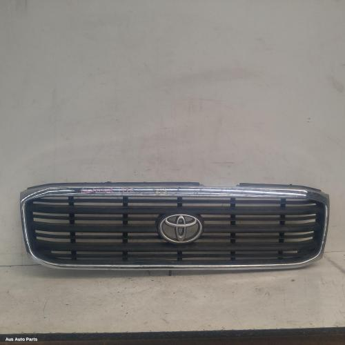 #107177, Used grille for 1998 landcruiser| 100 series, chrome, 01/98-05/02